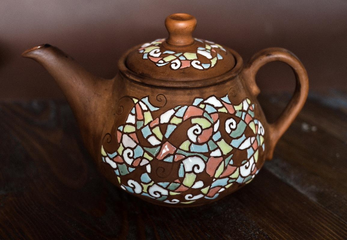 """Чайник набору """"Італьяно Веро"""" з прозорою поливою"""