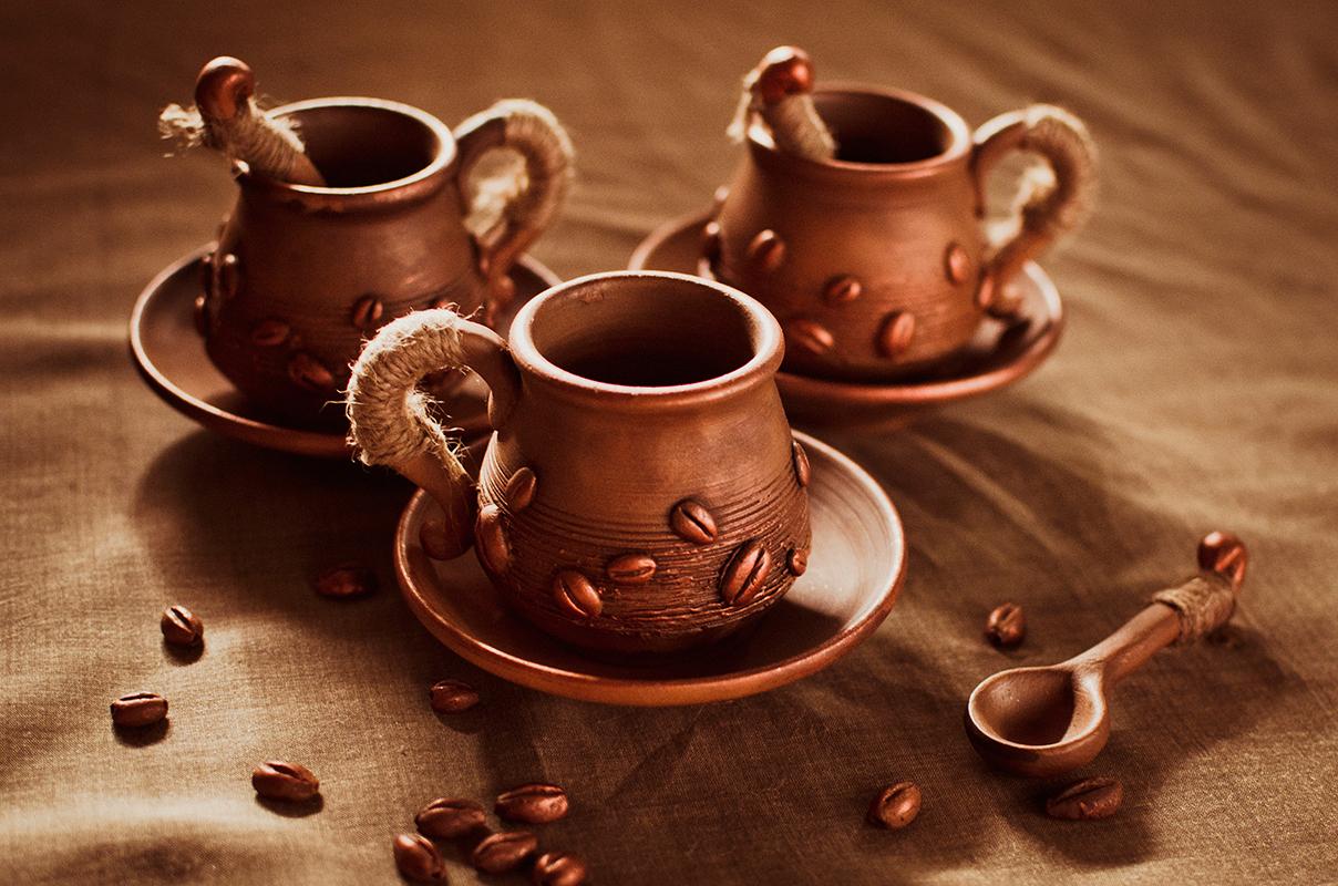 Набір кавовий - чашечки і ложечки