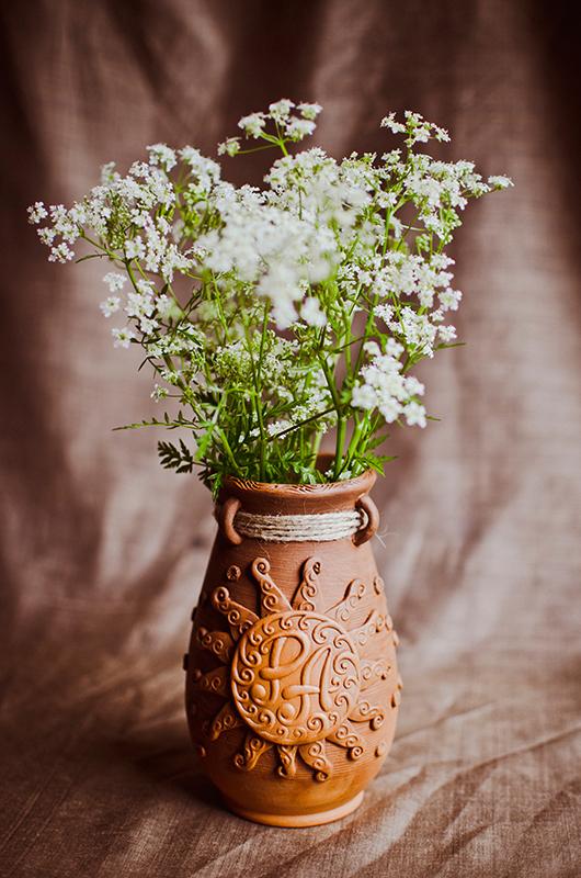 """Ваза """"Ра"""" з квітами"""